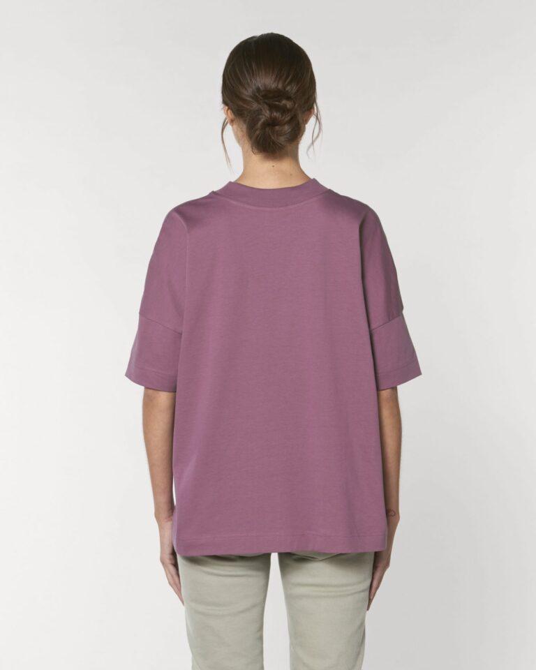 Oversized Organic T-shirt Purple
