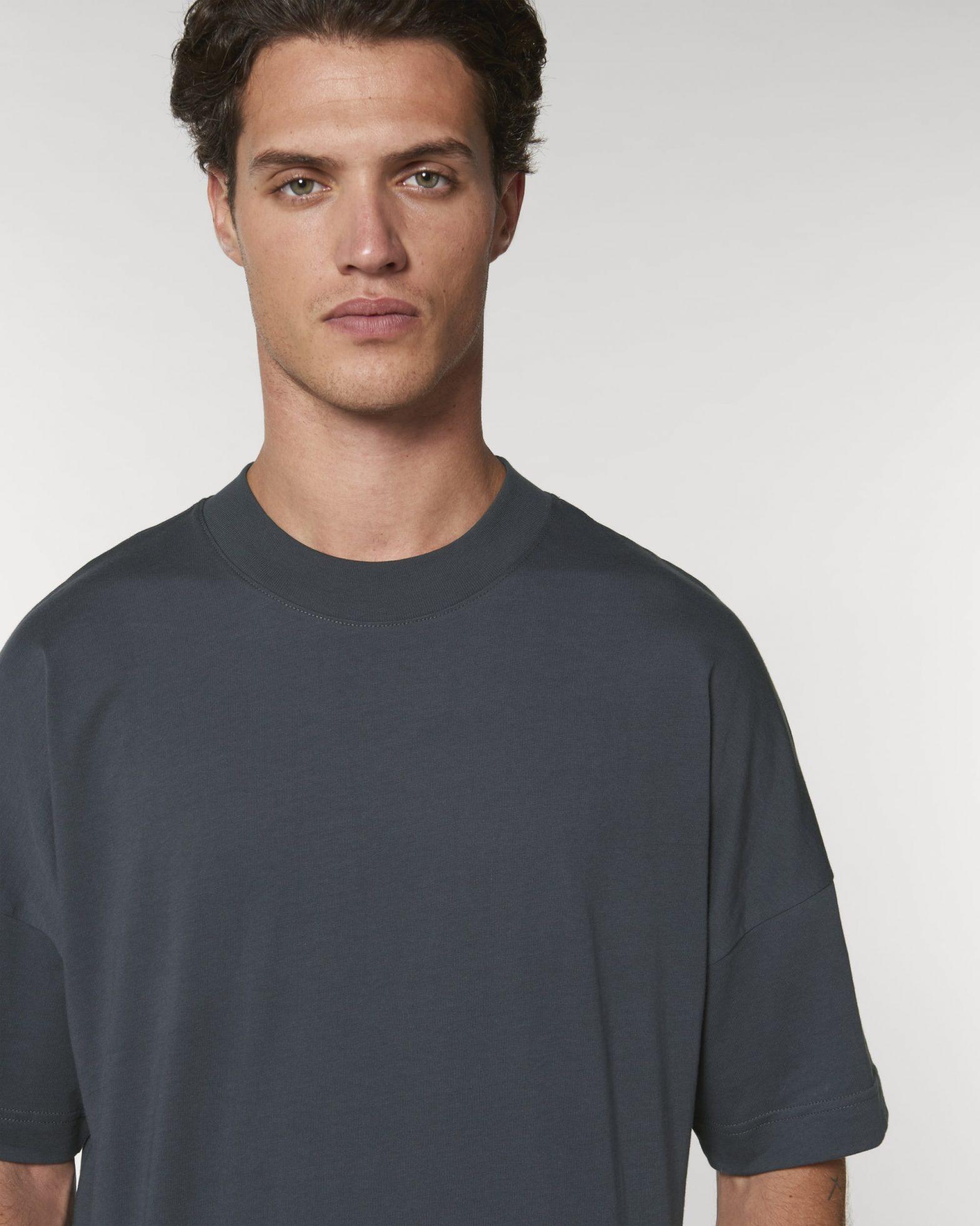 Organic Oversized T-shirt Ink Grey