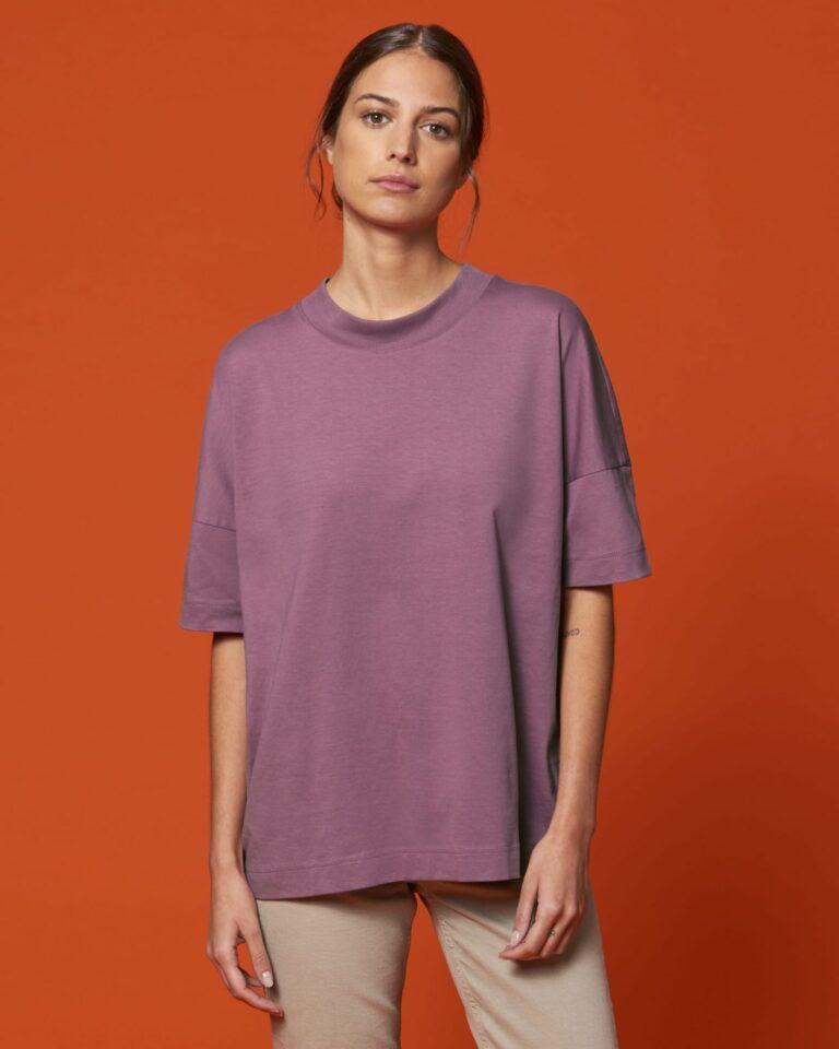 Organic Oversized T-shirt Purple